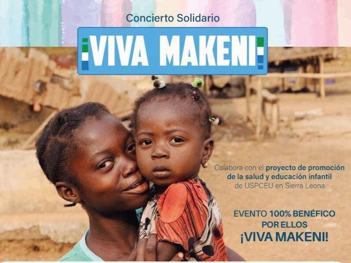 Cartel del concierto benéfico Viva Makeni