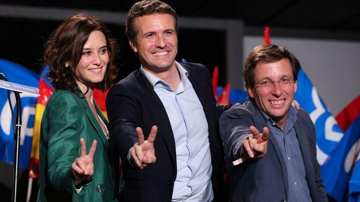 Celebración en Génova por los resultados electorales del PP en las elecciones del 26-M