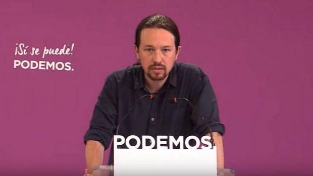 Pablo Iglesias comparece antes los medios tras las elecciones del 26-M