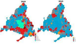 Cambio de colores en el mapa municipal: el PSOE cierra el 'cinturón rojo' del sur