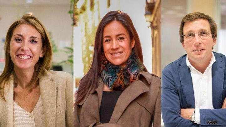 Silvia Saavedra (Ciudadanos), Begoña Villacís (Ciudadanos) y José Luis Martínez Almeida (PP), estarán esta tarde en Com.Permiso.