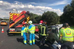Accidente entre diez vehículos en la M-40.