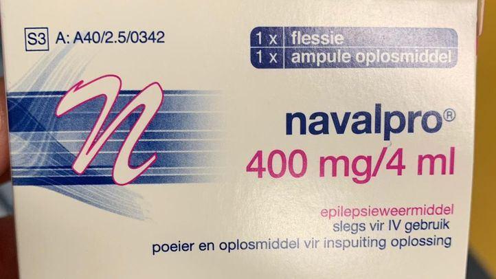 Medicamento Navalpro en idioma Africans, que el sindicato SATSE denuncia que ha distribuido el Hospital de Getafe.