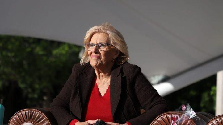 Manuela Carmena, en una imagen del acto de arranque de campaña del 26-M.