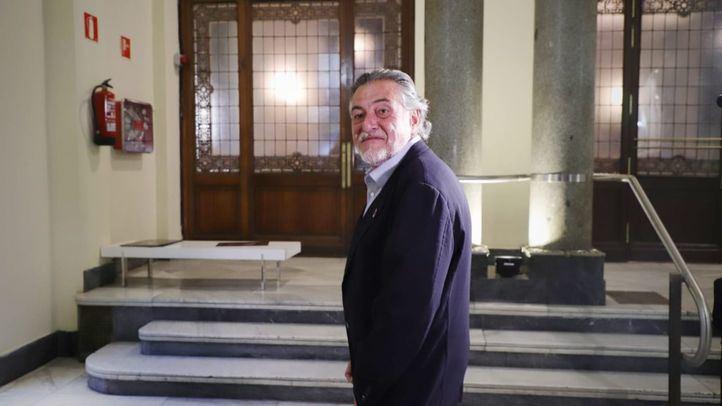 Pepu Hernández, en una imagen de la noche electoral del 26-M.