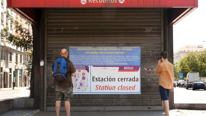 El domingo cierran el túnel y la estación de Recoletos: estas son las alternativas