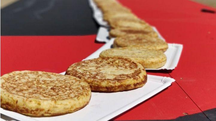 Getafe, récord Guinness de la línea de tortilla de patata más larga