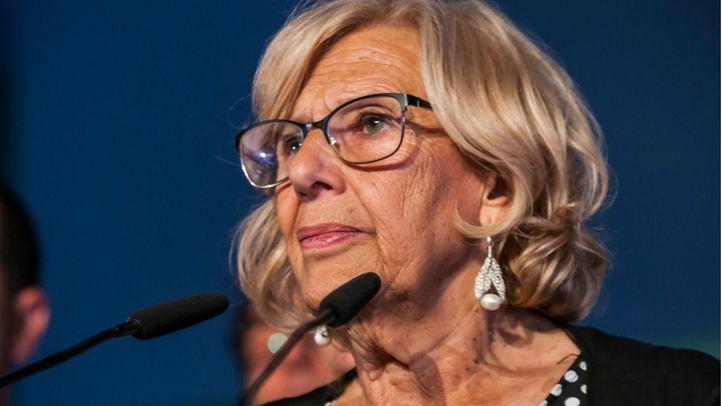 Manuela Carmena, durante la noche electoral del pasado 26 de mayo.