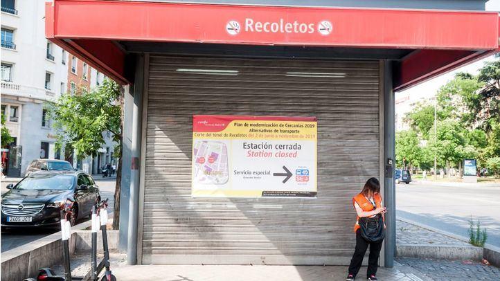 Primer día tras el cierre del túnel de Recoletos y de su estación de Cercanías.