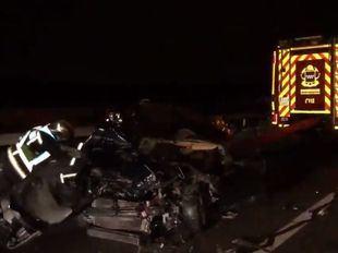 Tres heridos tras una colisión en Perales de Tajuña