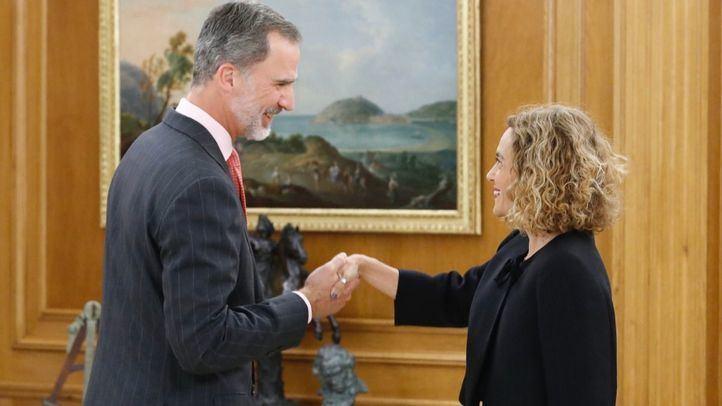 La presidenta del Congreso de los Diputados, Meritxell Batet, presentó la lista de representantes designados por los grupos políticos al Rey Felipe VI.