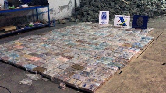 Intervenida casi una tonelada de cocaína oculta en falsas piedras en Humanes