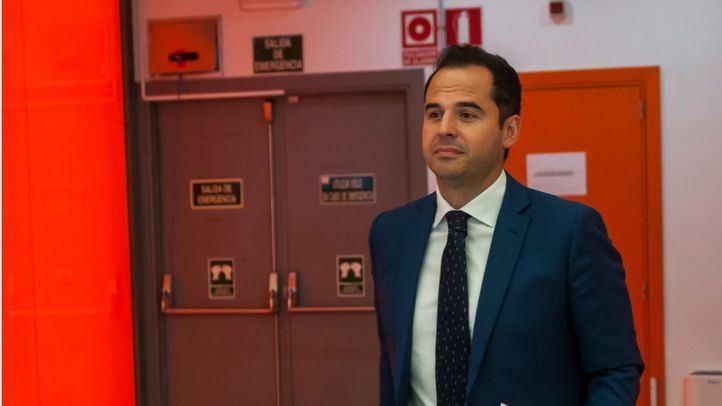 Ignacio Aguado, en la sede de Cs, en Ventas.