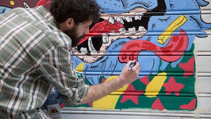 Un maratón de arte urbano al aire libre embellece Madrid