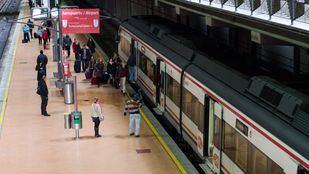 Andén de la estación de Atocha.