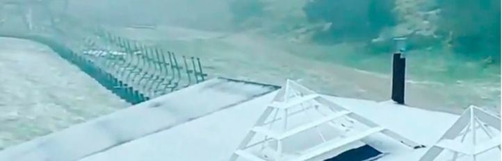 Valdesquí amanece con una capa de nieve de tres centímetros