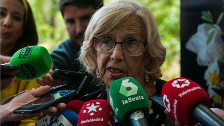Carmena achaca la interrupción de las obras de Plaza de España a un malententido