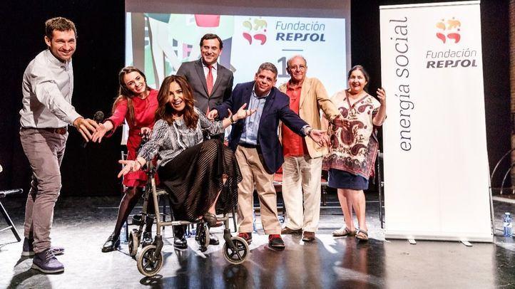 Gutiérrez Caba, en el Taller de teatro adaptado de Fundación Repsol y Blanca Marsillach