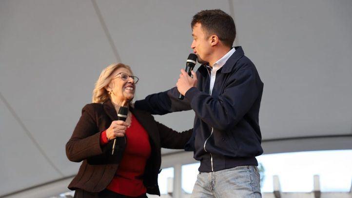 Manuela Carmena e Íñigo Errejón, en una foto de archivo de la apertura de campaña.