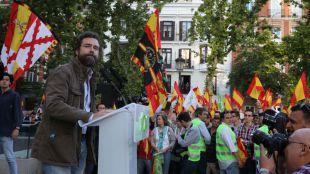 Iván Espinosa de los Monteros en el cierre de campaña de Vox.