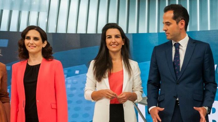 Isabel Díaz-Ayuso, Rocío Monasterio e Ignacio Aguado están condenados a entenderse para gobernar la Comunidad.