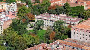 Vistas aéreas desde la Torre de Madrid, del Palacio de Liria