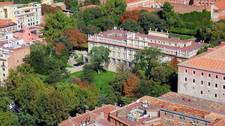 VVistas aéreas desde la Torre de Madrid, del Palacio de Liria