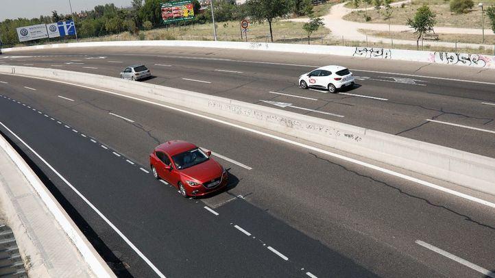 Foto de archivo de una carretera en el término municipal de Madrid.