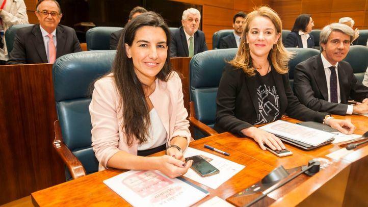 Rocío Monasterio, en su escaño en la sesión constitutiva de la Asamblea.