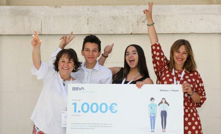 El IES Jaime Vera, ganador del segundo premio nacional del programa `Valores de futuro´ de BBVA