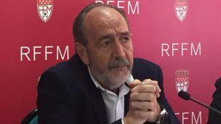 Paco Díez, presidente de la Real Federación Madrileña de Fútbol.