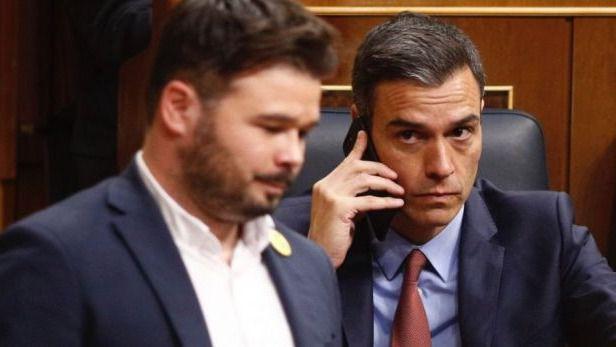 ERC no ve fácil su abstención en la investidura de Sánchez