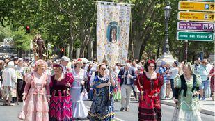 Procesión en las fiestas de San Antonio de la Florida.