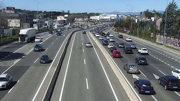 La vía de servicio de la A-6 a la altura del Arroyo de Peregrinos sufrirá cortes de tráfico desde el lunes