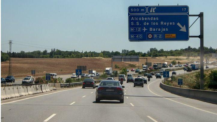 Las obras de mejora de la A-1 reducen un carril en la Avenida de la Transición Española de Alcobendas