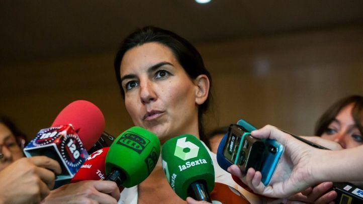 La líder de Vox en la Comunidad, Rocío Monasterio, en la Asamblea de Madrid.