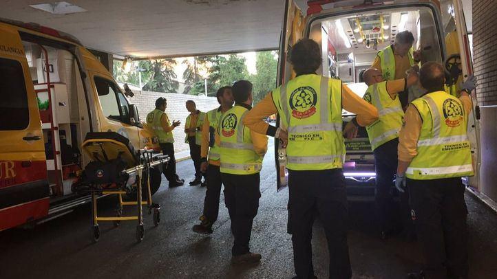 Técnicos de emergencias del SAMUR en una foto de archivo