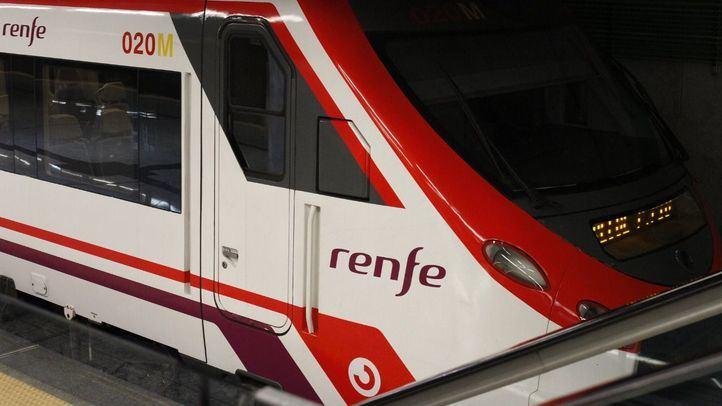 Tren de la línea C1 de Cercanías Renfe, una de las afectadas.