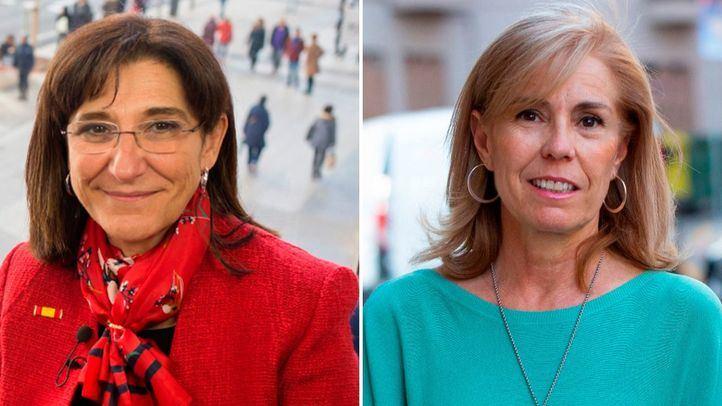 Susana Pérez Quislant (alcaldesa de Pozuelo de Alarcón) y Yolanda Sanz (alcaldesa de El Molar), esta tarde en Com.Permiso.