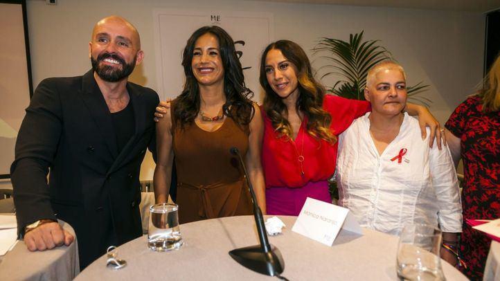 Jaime de los Santos (consejero de Cultura en funciones de la Comunidad de Madrid), Begoña Villacís (vicealcaldesa de Madrid), Mónica Naranjo (pregonera de las fiestas de este año) y Uge Sangil (presidenta de FELGTB) durante la presentación del Orgullo 2019.