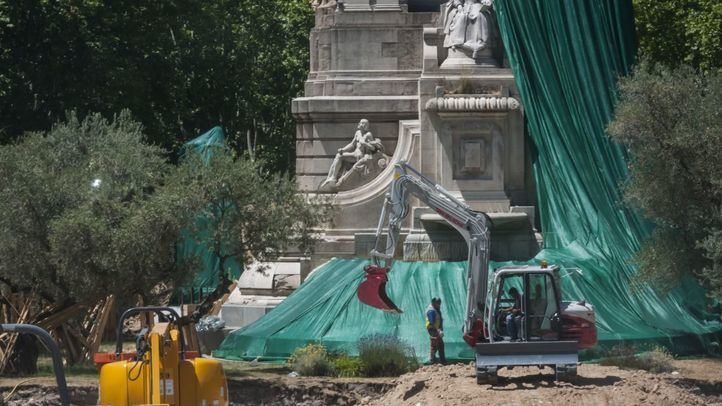 La Comunidad de Madrid levanta la paralización de las obras en la Plaza de España