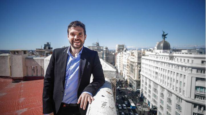 El líder de la gestora de Podemos en la Comunidad de Madrid, Jesús Santos, en su entrevista con 'Madridiario'.