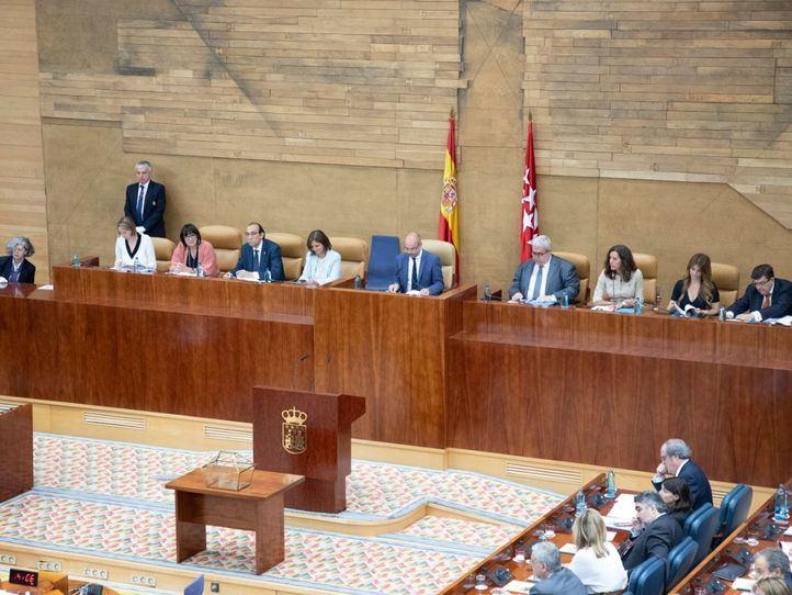 Constitución del pleno de la Asamblea de Madrid