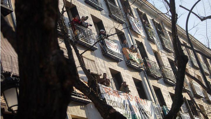 Desahucios en la calle Argumosa, en Lavapiés.