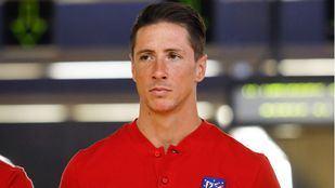 Fernando Torres durante su etapa en el Atlético de Madrid.