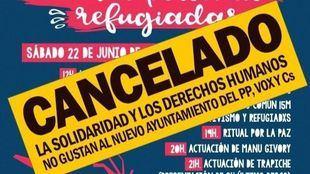 Cartel de la jornada solidaria de este sábado para recaudar fondos para refugiados