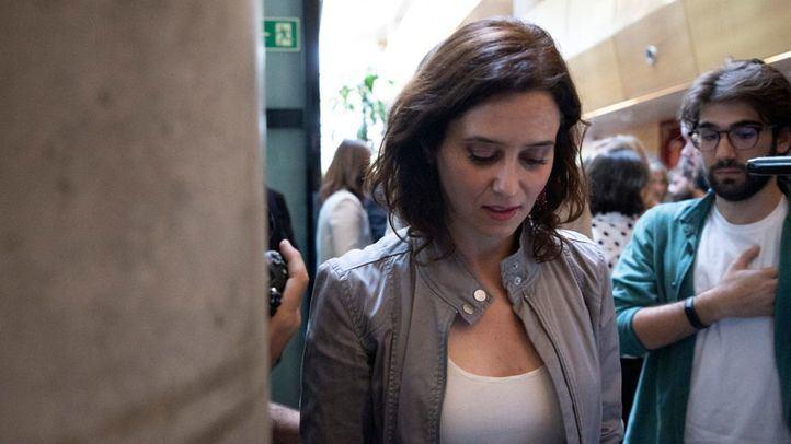 Isabel Díaz Ayuso, tras el Pleno de constitución de la Asamblea de Madrid.