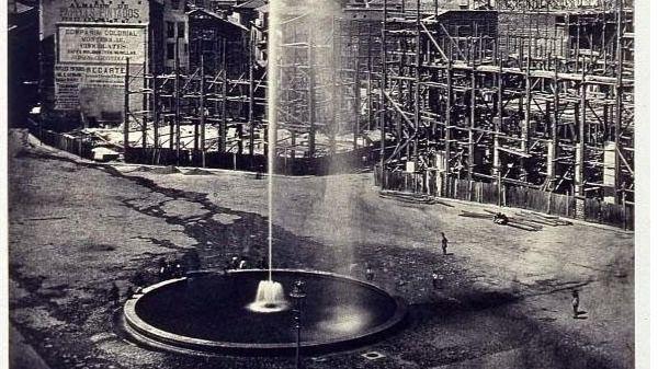 Fuente de la Puerta del Sol en 1860