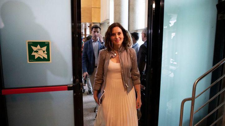 Isabel Díaz Ayuso tras el pleno de constitución de la Asamblea de Madrid