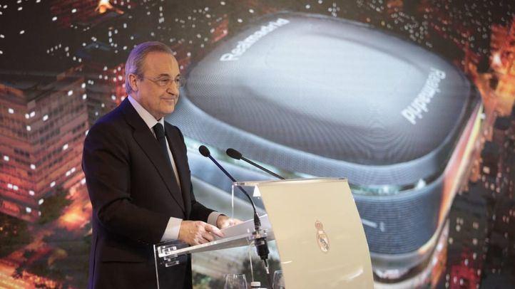 El presidente del Real Madrid, Florentino Pérez, en la presentación del proyecto Nuevo Santiago Bernabéu.